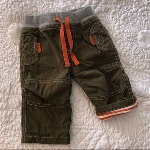 mini Boden Size 0-3 mos. Lined Brown Pants